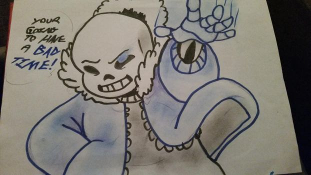 Sans (you're gonna have a bad time) by LadyLuigi225