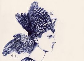 Ballpoint Pen Big Wings by kleinmeli