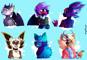 request batch 5: Furries and Anthros by DragonHF