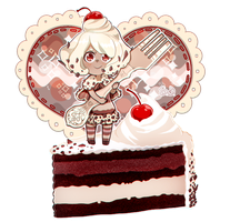 Black Forest Cake by Vocaloid-Mirai