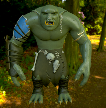 Forest Troll - PolyCount Challenge June by MistahMoose