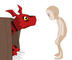 Guilmon and Oc Base by TFAfangirl14