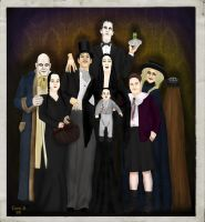 The Addams Family by FionaStrange