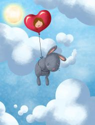 Bunny in the sky D: by Penril