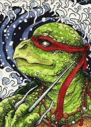 TMNT Raphael / ACEO by TempestErika