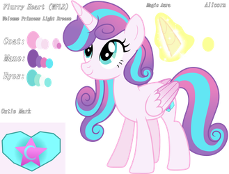 Flurry Heart (Color Guide) by KimmyArtMLP