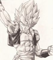 Gogeta (shaded) by superheroarts