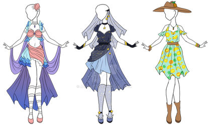SALE Adoptable outfits OPEN 1/3 by Aligelica
