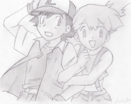 ash and misty by franky123