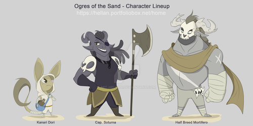 Ogres of the Sand - Character Lineup by MIT-Hellan