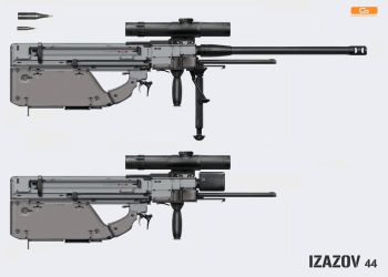 IZAZOV hybrid bullpup weapon by NenadGojkovic