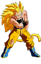 SSJ Raditz (Battle Damage) by MalikStudios
