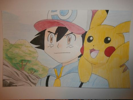 ash and pikachu by Evil-Alice8
