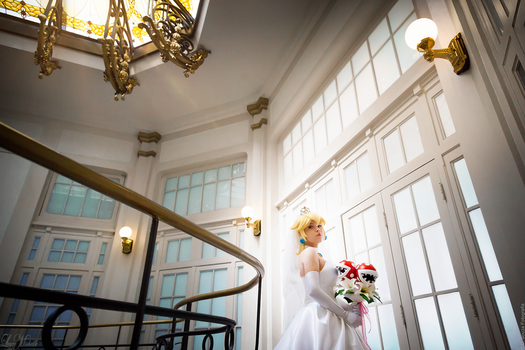 Bride Princess Peach by LayzeMichelle