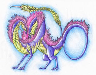 Purple Squiggle by SeaSapphire