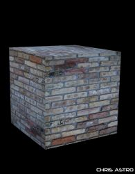 Brick Wall  Cube by chrisastrophoto