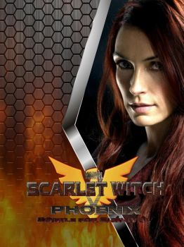 Scarlet Witch V Phoenix Poster (adult Jean Grey) by Art-Master-1983