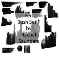 Pen brush set 1 by Random-Acts-Stock