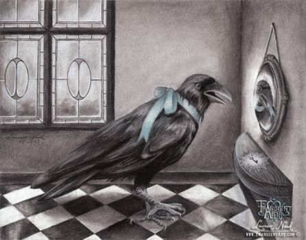 Crow in the Looking Glass by TransientArt