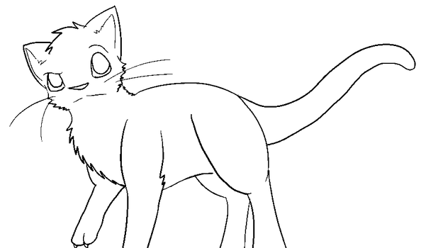 Mutated cat lineart by Spiritpie