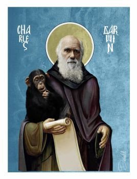 Evolution - Charles Darwin by Godpuppett