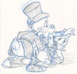 Scrooge and Fenton by KicsterAsh