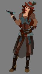 Outlaw-Mafia-Hirman Female Character Colour Choice by LisaGunnIllustration