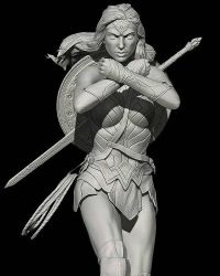 Gal Gadot as Wonder Woman Zbrush by SimonPovey