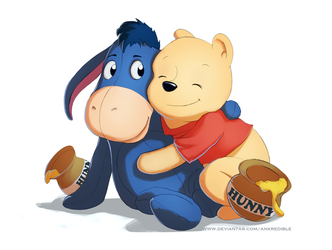 Pooh and Eeyore by Ankredible