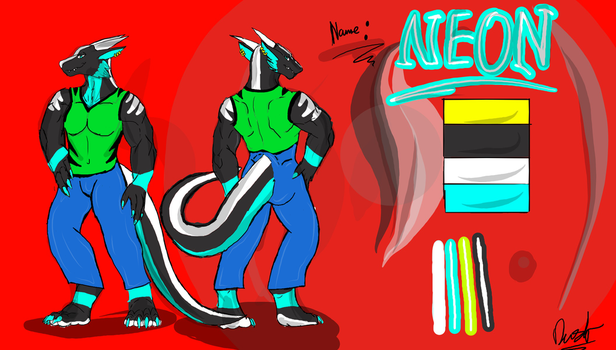 Neon Ref (clothes on) by neonhelldragon