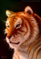 Golden tiger by JuliaLisitsina