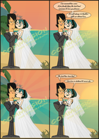 Gwen x Trent Wedding Comic commission by qMargot