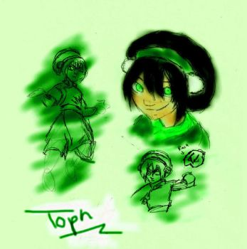 Toph sketches by Mikimiki