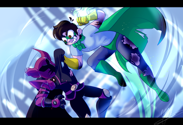 BOY THEY FIGHTIN //+SPEEDPAINT// by OliveCow