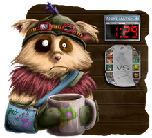Teemo Dreading his next match... by Alara-Shade