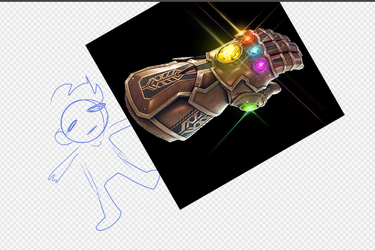 Rob finally has the infinity stones by CosmicFrenchFries