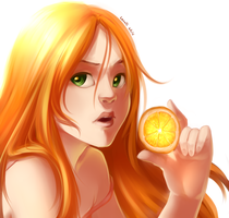 Orange by Lunallidoodles