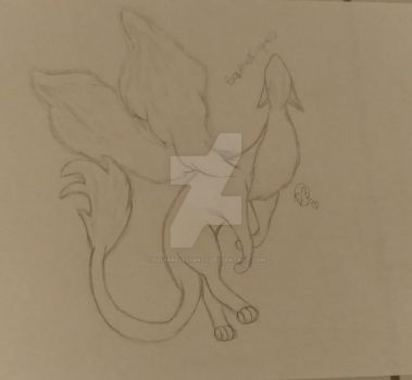 Redraw of my first dragon picture  by Squirrelflight0
