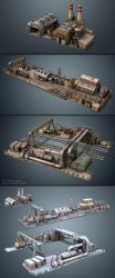 Factories (game asset) by MikeMS