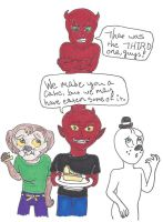 Cake leftovers by GhostMage47