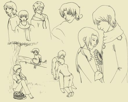 hetalia sketches by Tenshi05