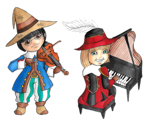 Musical mages by lordbatsy