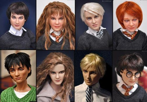 Harry Potter related doll repaints by mary-vassilieva