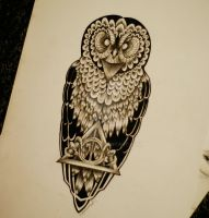 deathly hallows of the owl by Kszesiu