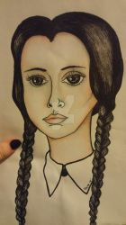 Wednesday Addams Doodle by savvyartwork