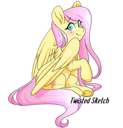 Bronycon Commission - Chubby Fluttershy by Twisted-Sketch