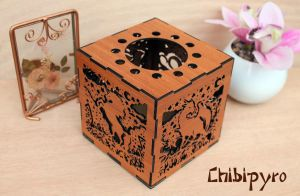 Fantasy Creatures lantern cherry wood color by ChibiPyro