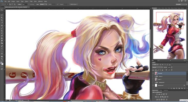 Harley Quinn - WIP by BillyCanvas