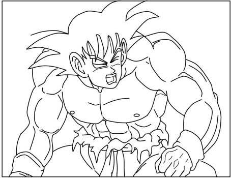 Worn Out Goku_lineart by carapau