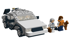 LDD - Back to the Future - DeLorean Time Machine by Cryptdidical